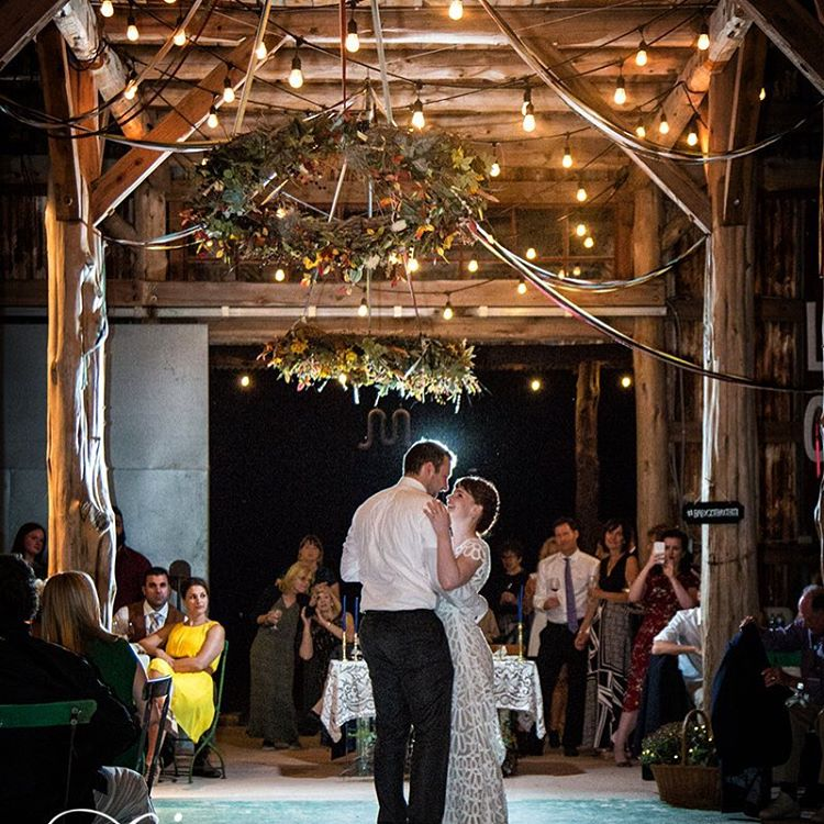 WeddingCoupleBarnDancing